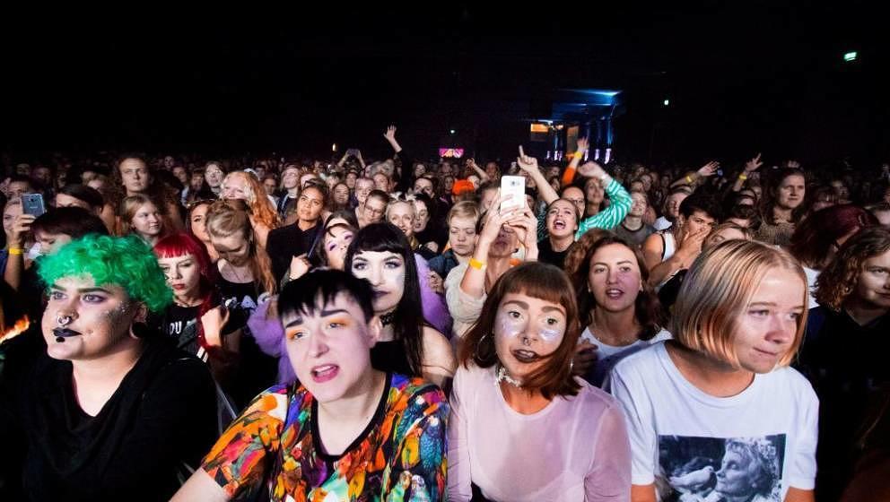 Women attend the Statement Festival at Bananpiren in Gothenburg, Sweden, on August 31, 2018. - Held in Sweden's second-larges