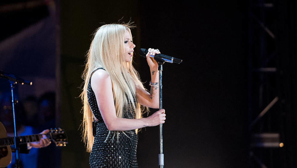 LOS ANGELES, CA - JULY 25:  Recording Artist Avril Lavigne performs at the opening ceremony of the Special Olympics World Gam