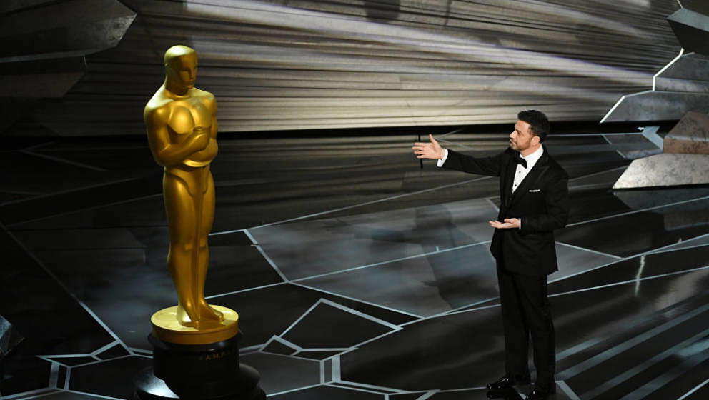 HOLLYWOOD, CA - MARCH 04:  Host Jimmy Kimmel speaks onstage during the 90th Annual Academy Awards at the Dolby Theatre at Hol