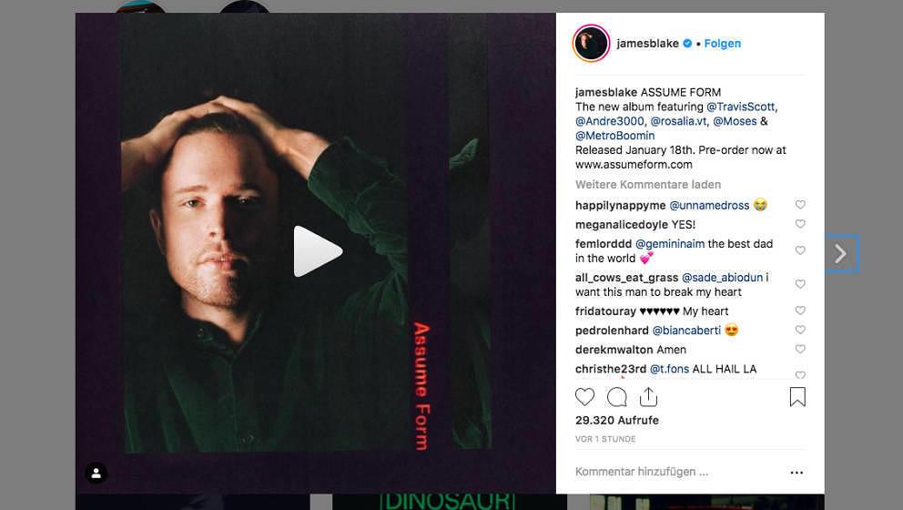 James Blakes neues Album ASSUME FORM erscheint am 18. Januar 2019