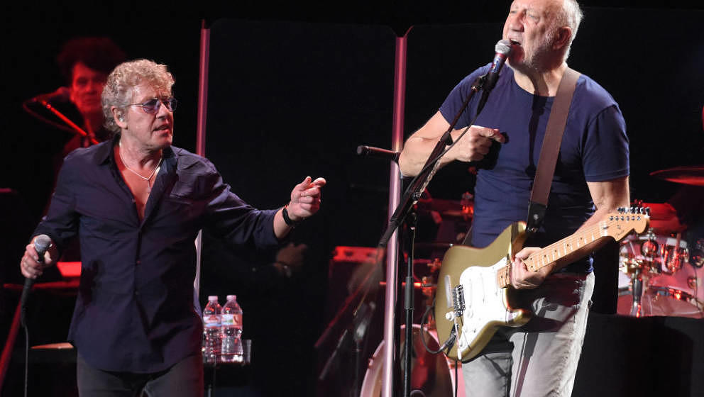 SAN FRANCISCO, CA - AUGUST 13:  Roger Daltrey (L) and Pete Townshend of The Who perform during the 2017 Outside Lands Music a