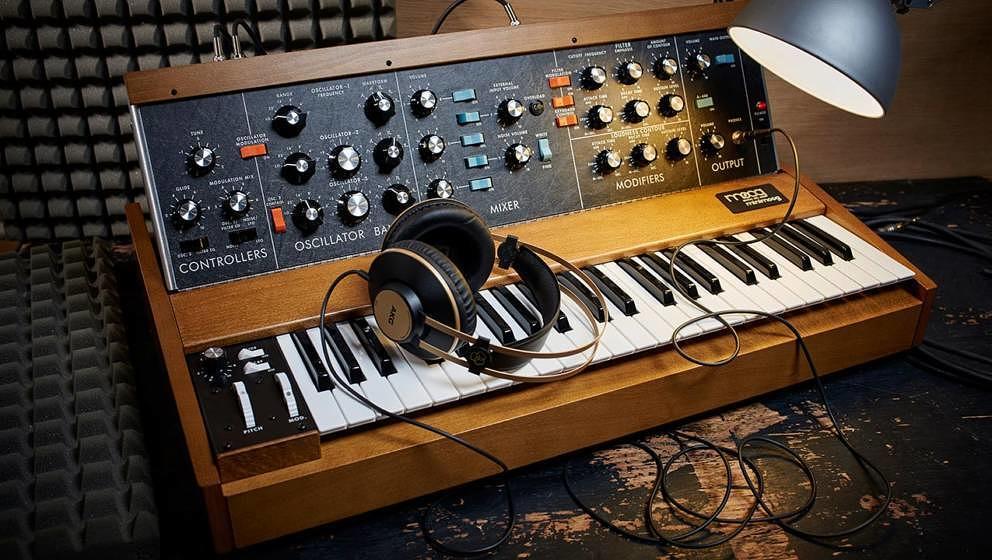 Minimoog Voyager, dafür ein weiteres Mitglied aus der großen Moog-Familie: Minimoog Model D.