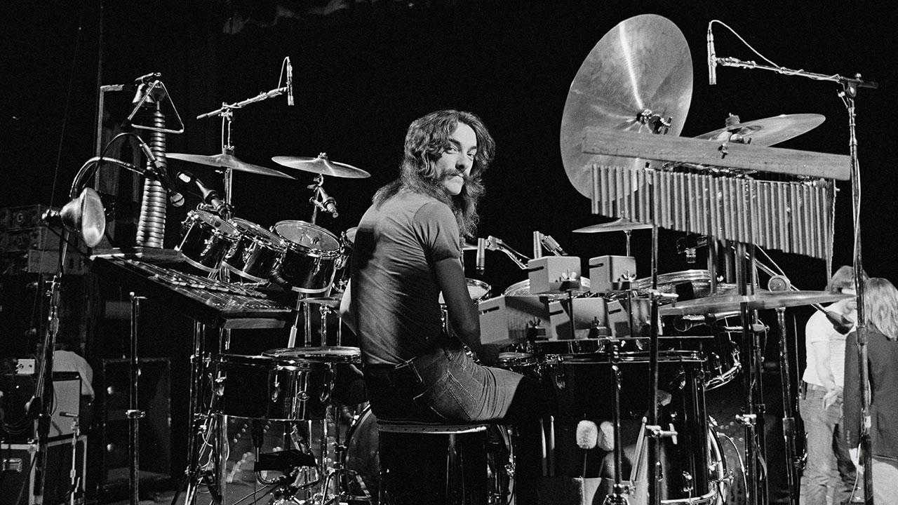 Das Schlagzeug des Rhythmus-Beauftragten von Rush.