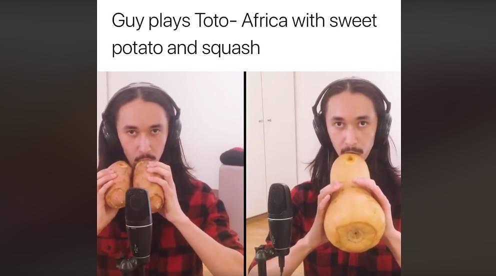 """""""Pupsi"""" höhlt gerne Kartoffeln, Kürbisse und Karotten aus und baut sich Instrumente daraus"""