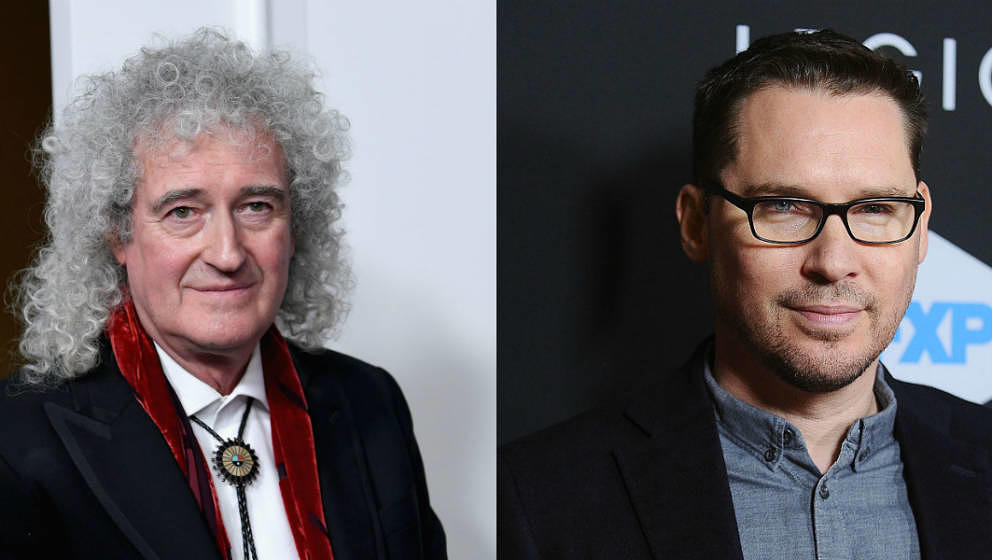 Brian May (l.) und Bryan Singer (r.)