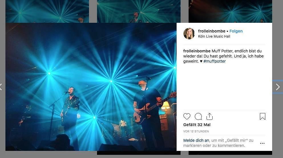 Omalämpchen und vielleicht der Beginn einer richtigen Reunion: Muff Potter live am 24. Januar 2019 in Köln