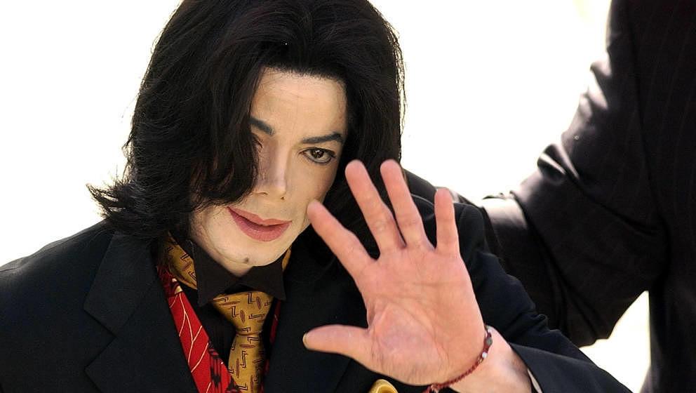 Michael Jackson bei einem Prozess im Mai 2005