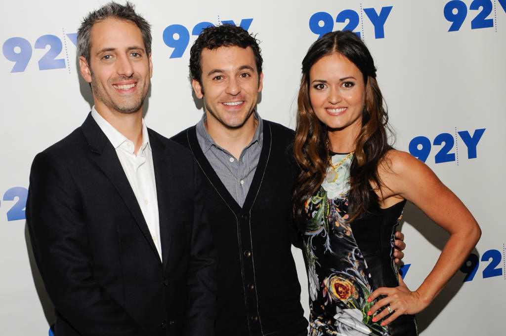 Josh Saviano, Fred Savage und Danica McKellar am 20. Oktober 2014 in New York City.