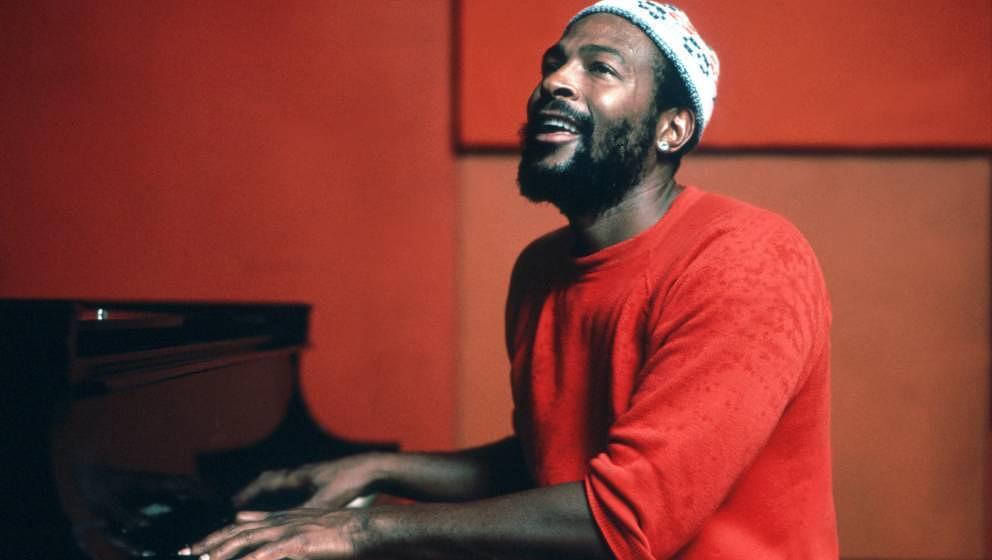 Ca. 1974: Marvin Gaye spielt Piano und komponiert neue Songs