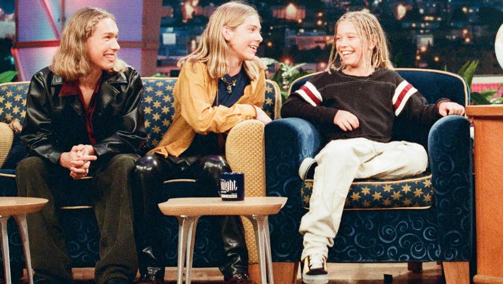 Hanson zu Besuch bei Jay Leno am 11. Juli 1997