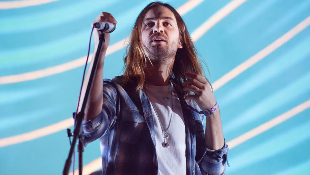 NEW YORK, NY - JULY 29:  Kevin Parker of Tame Impala performs at the 2017 Panorama Music Festival at Randall's Island on July
