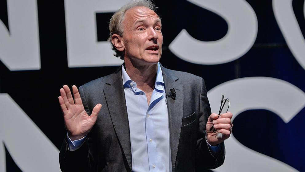 Wissenschaftler Sir Tim Berners-Lee im Juni 2015 in Cannes.
