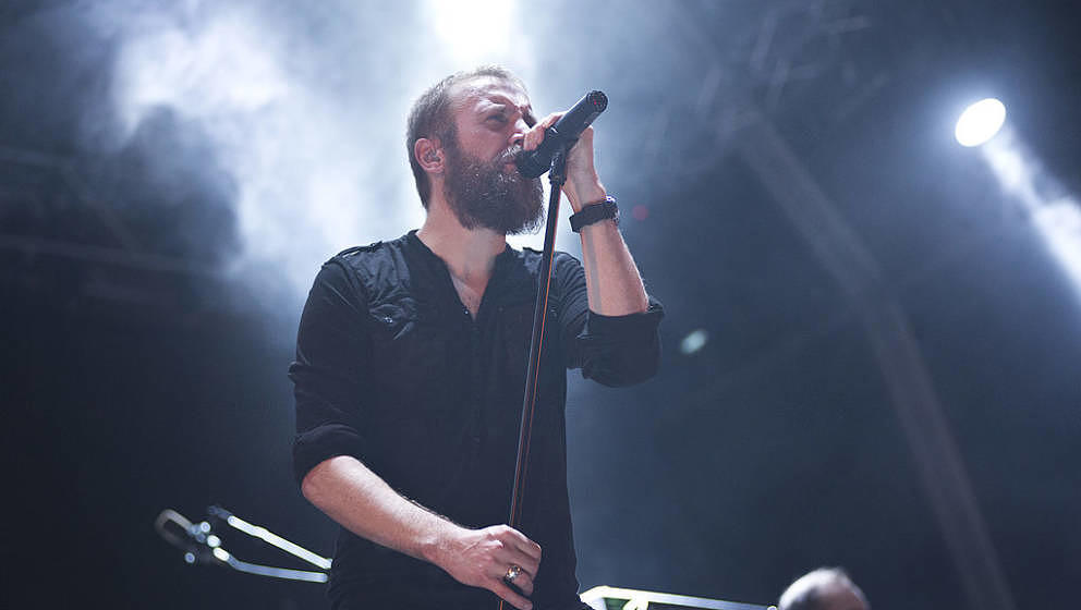 Nick Holmes, der Sänger von Paradise Lost und Bloodbath beim Barcelona Metal Fest 2014.