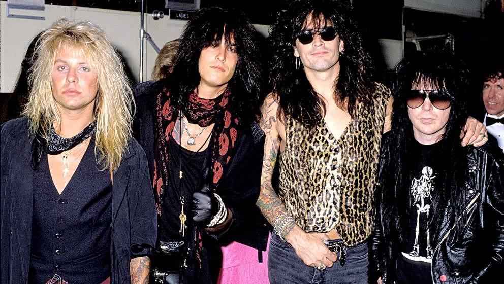Mötley Crüe: Vince Neil, Nikki Sixx, Tommy Lee und Mick Mars bei den MTV Video Music Awards 1989