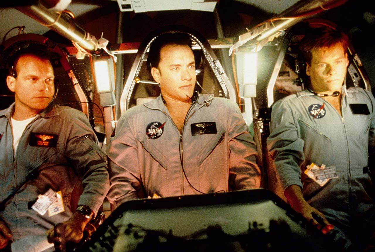 Die Crew der Apollo 13: Bill Paxton, Tom Cruise und Kevin Bacon