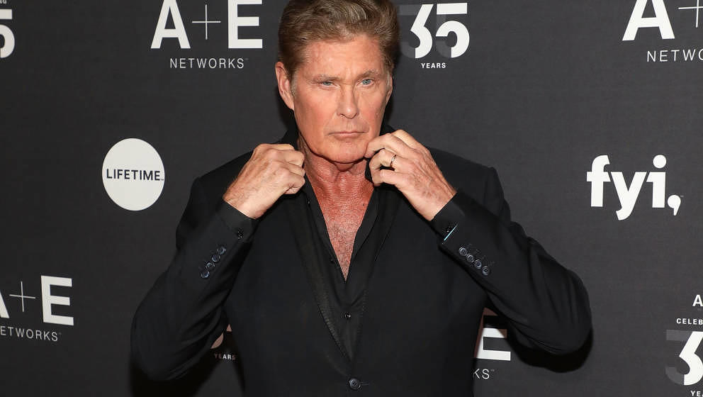 NEW YORK, NY - MARCH 27:  David Hasselhoff attends the 2019 A+E Upfront at Jazz at Lincoln Center on March 27, 2019 in New Yo