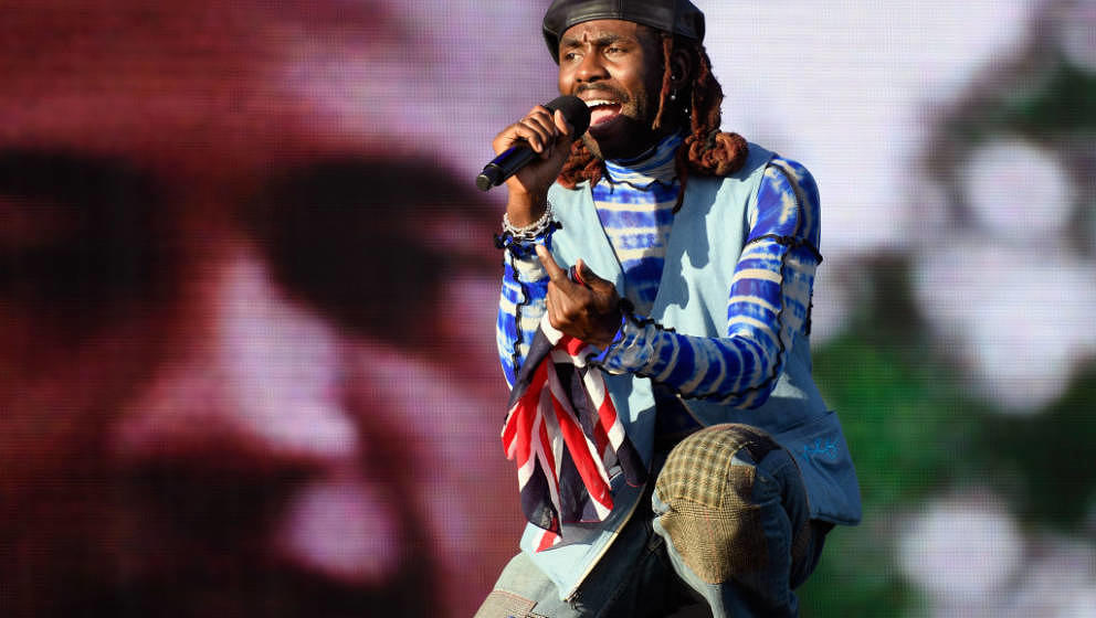 INDIO, CA - APRIL 14:  Dev Hynes of Blood Orange performs at the Outdoor Theatre during the 2019 Coachella Valley Music And A