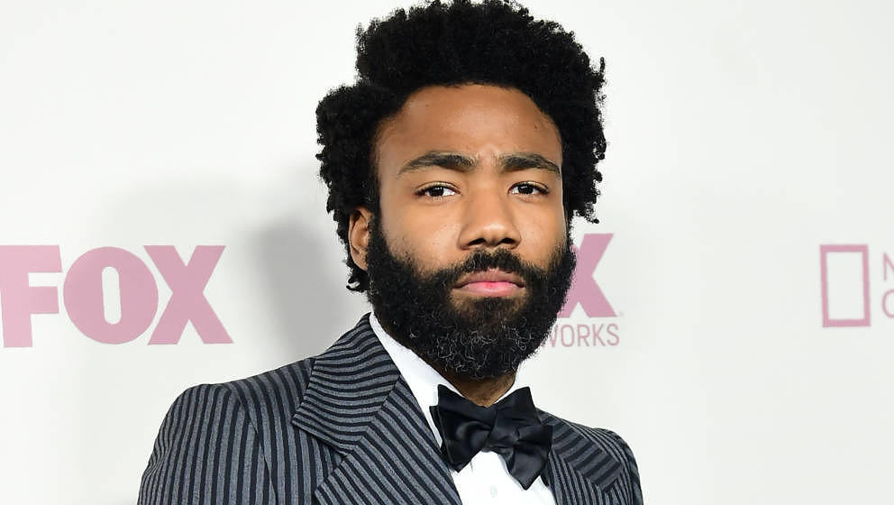 Actr Donald Glover arrives for the 'Fox, FX, National Geographic and Twentieth Century Fox TV Emmy Party' following the 70th