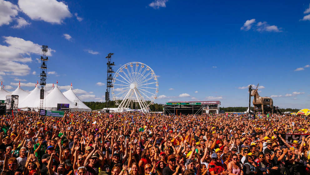 NEUHAUSEN, GERMANY - JUNE 23:  General view of the crowd during the Southside Festival on June 23, 2018 in Neuhausen, Germany