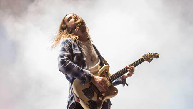 Tame Impalas Kevin Parker 2017 beim Panorama Music Festival in New York