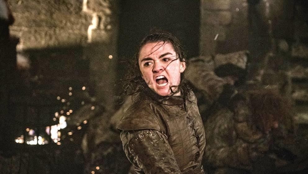 Arya in der Schlacht von Winterfell