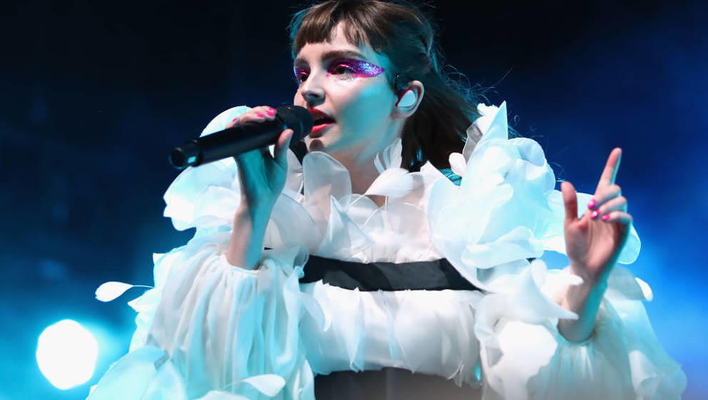 INDIO, CA - APRIL 14:  Lauren Mayberry of CHVRCHES performs at Mojave Tent during the 2019 Coachella Valley Music And Arts Fe