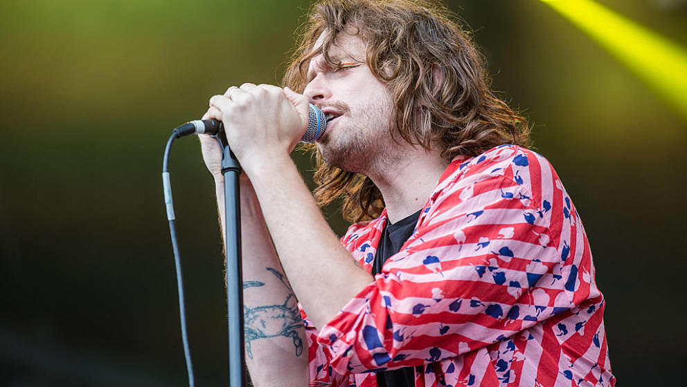 CHICAGO, IL - JULY 28:  Chris Keating of Yeasayer performs during day one of Lollapalooza 2016 at Grant Park on July 28, 2016
