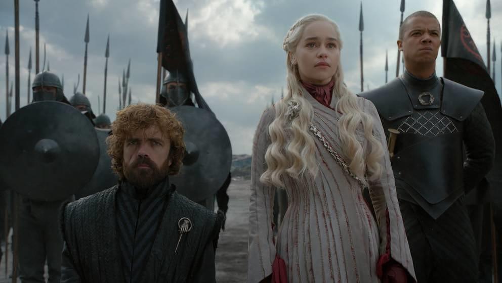 Müssen gleich ganz stark sein: Tyrion, Daenerys und Greyworm