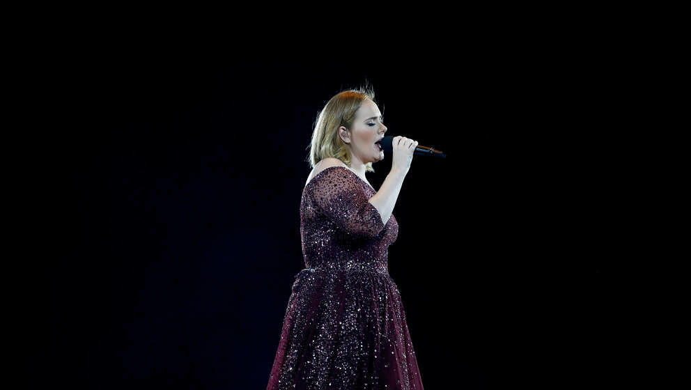 AUCKLAND, NEW ZEALAND - MARCH 23:  Adele performs at Mt Smart Stadium on March 23, 2017 in Auckland, New Zealand.  (Photo by