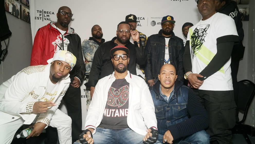 NEW YORK, NY - APRIL 25: Young Dirty Bastard, Inspectah Deck, DJ Mathematics, RZA, Raekwon the Chef, Method Man, U-God, Ghost