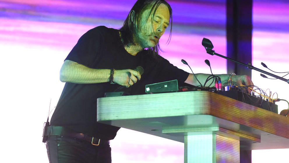 SAN FRANCISCO, CA - DECEMBER 15:  Thom Yorke performs during his 'Tomorrow's Modern Boxes' tour at Bill Graham Civic Auditori
