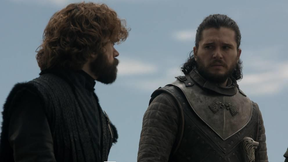 Können nur erahnen, was in wenigen Minuten folgt: Tyrion Lannister und Jon Snow.