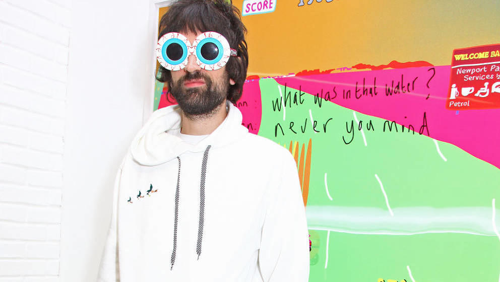 LONDON, ENGLAND - OCTOBER 18:   Serge Pizzorno attends a private view of 'Daft Apeth' by Serge Pizzorno of Kasabian at No Ho