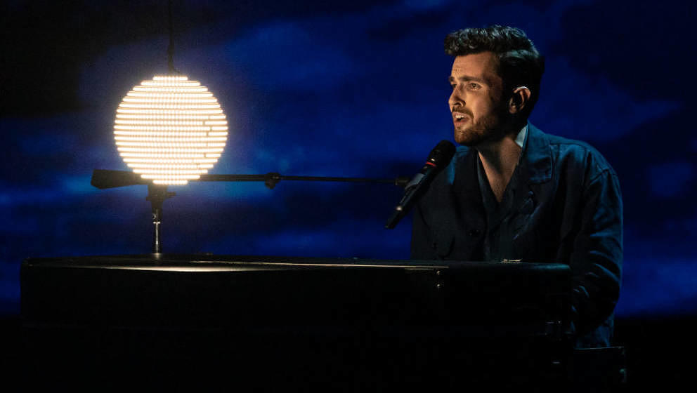 TEL AVIV, ISRAEL - MAY 16: Duncan Laurence from the Netherlands performs during the 64th annual Eurovision Song Contest held