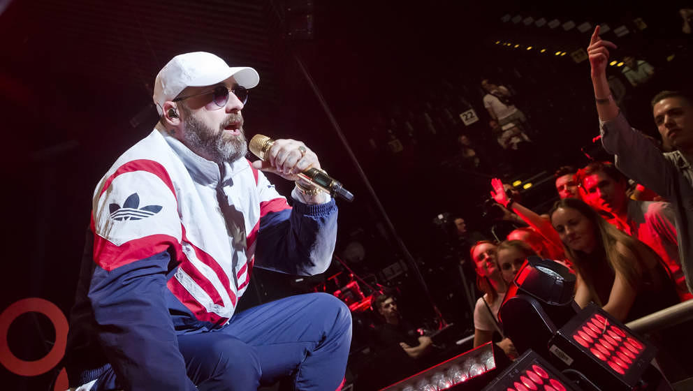 BERLIN, GERMANY - MAY 21: German rapper Sido performs live on stage during the Global Citizen Live at the Tempodrom on May 21