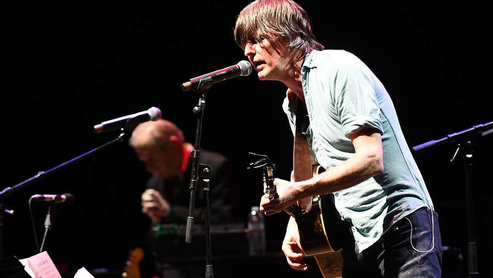 LOS ANGELES, CA - MARCH 30:  Singer Stephen Malkmus, founder of the band Pavement, performs onstage during The Jubilee - A Ce