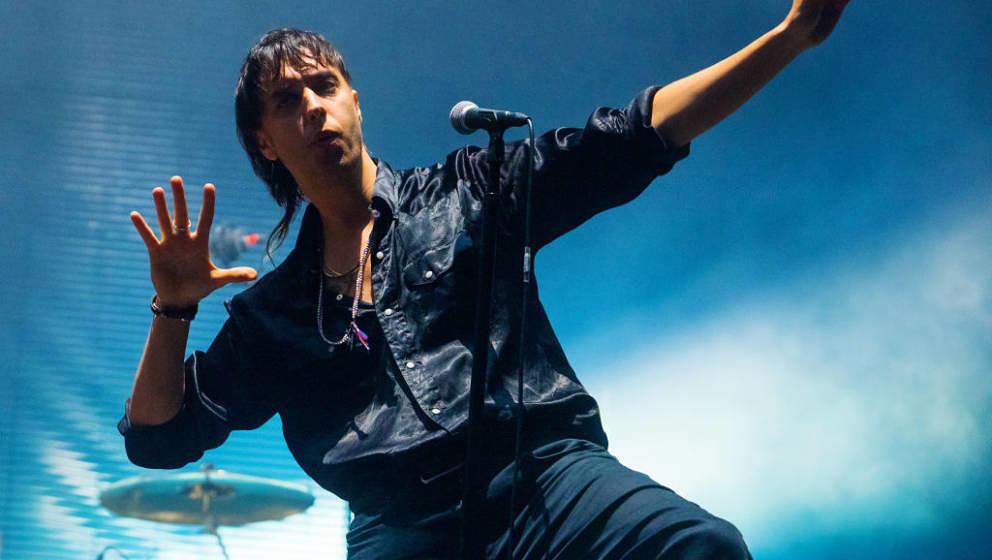 Julian Casablancas von The Strokes auf dem All-Points-East-Festival im Victoria Park am 25. Mai 2019 in London.