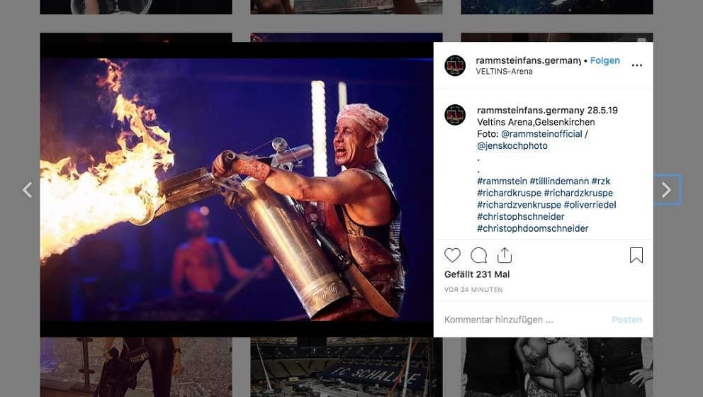 Feuer frei, na klar: Rammsteins Till Lindemann live in Gelsenkirchen am 28. Mai 2019