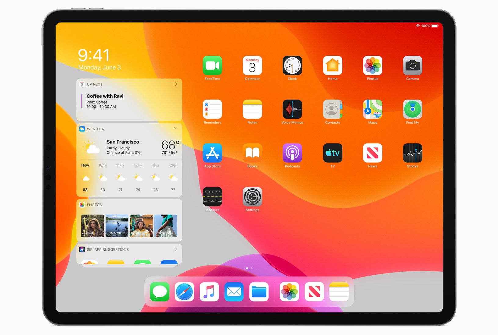 Der neue Homescreen von iPadOS