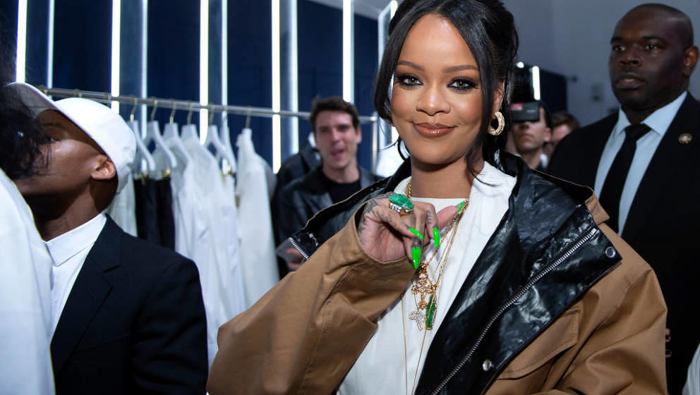PARIS, FRANCE - MAY 23: Rihanna attends the Fenty Exclusive Preview  on May 23, 2019 in Paris, France. (Photo by Aurelien Meu
