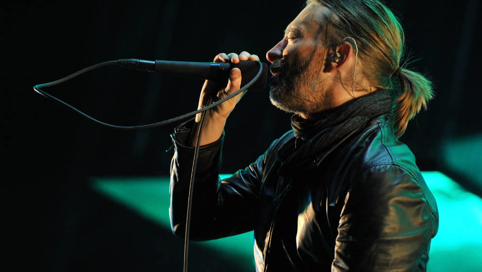 INDIO, CA - APRIL 14:  Musician Thom Yorke of Radiohead performs onstage during day 2 of the 2012 Coachella Valley Music &