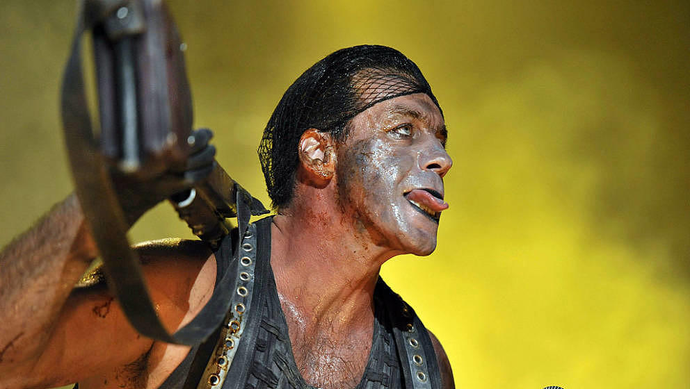 CAPE TOWN, SOUTH AFRICA - FEBRUARY 09:  (SOUTH AFRICA, UAE, BRAZIL AND TURKEY OUT) Till Lindemann, lead vocalist of the Germa