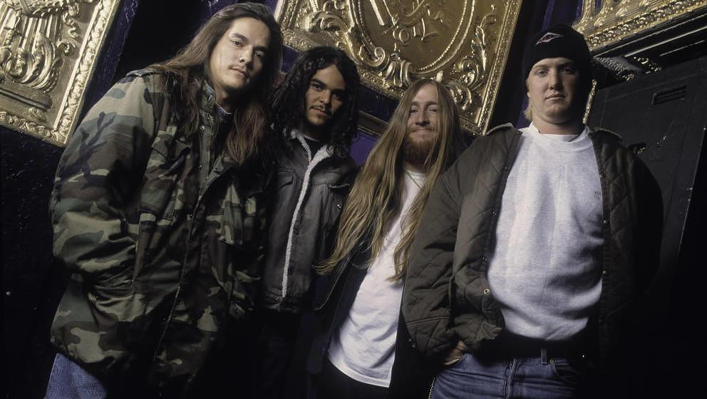 Kyuss 1992: John Garcia, Brant Bjork, Scott Reeder und Josh Homme, der später die Queens Of The Stone Age gründete