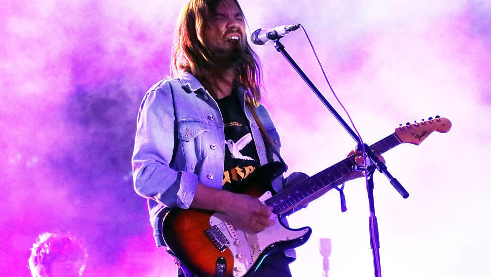 BOSTON, MA - MAY 25:  Kevin Parker of Tame Impala performs onstage during Day 2 of 2019 Boston Calling Music Festival on May