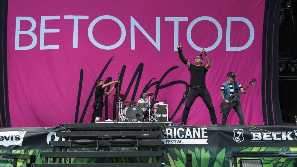 21.06.2019, Eichenring , Scheessel, GER, Festival, Konzert,Hurricane, Band  im Bild'BETONTOD'live auf der Forest Stage beim