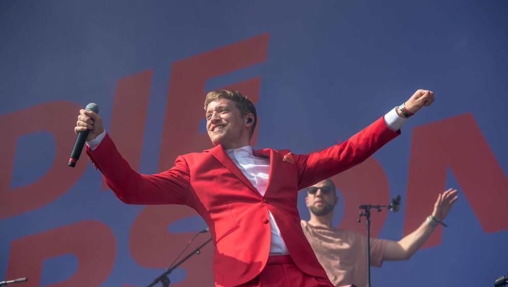 22.06.2019, Eichenring , Scheessel, GER, Festival, Konzert,Hurricane, Band  im Bild'DIE ORSONS'live auf der River Stage bei