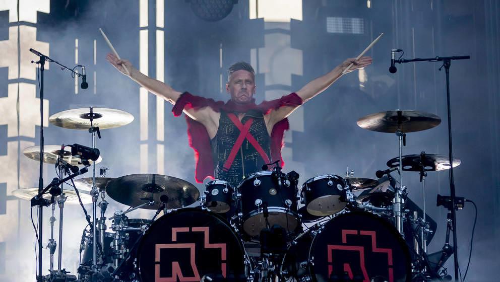 22.06.2019, Berlin: Christoph ?Doom? Schneider, Schlagzeuger von Rammstein, tritt beim Konzert der Band Rammstein im Olympias