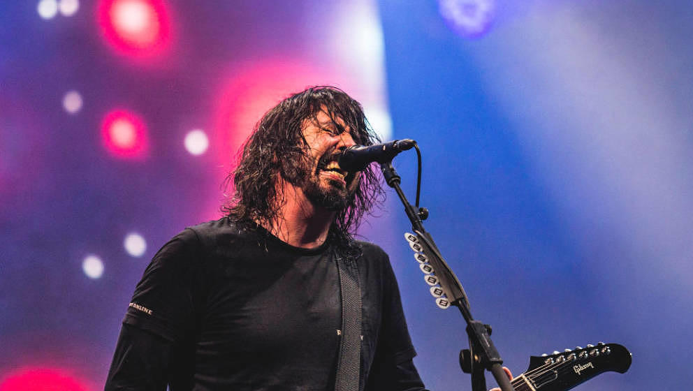 NUERBURG, GERMANY - JUNE 23: American singer Dave Grohl of Foo Fighters performs live on stage during the Hurricane festival
