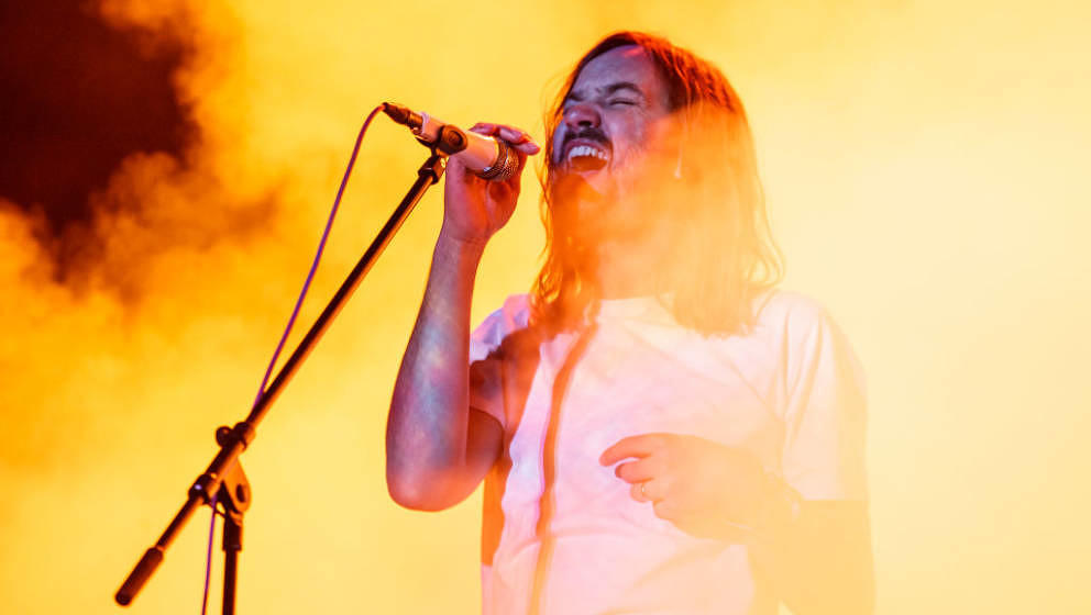 BARCELONA, SPAIN - MAY 31:  Kevin Parker of Tame Impala performs in concert during Primavera Sound on May 31, 2019 in Barcelo