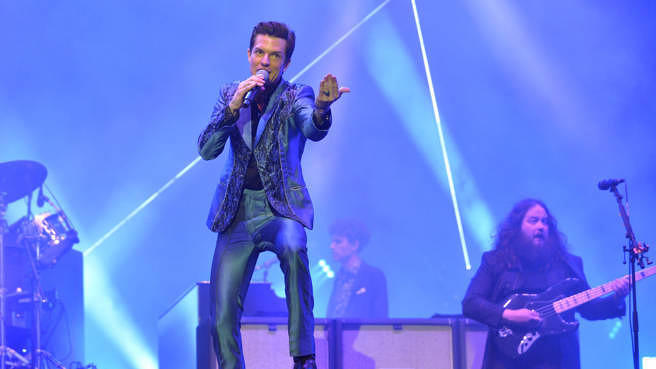 "The Killers' Brandon Flowers hier beim ""Glastonbury Festival"" 2019."